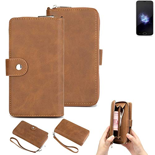 K-S-Trade® Handy-Schutz-Hülle Für Doogee X9 Pro Portemonnee Tasche Wallet-Case Bookstyle-Etui Braun (1x)