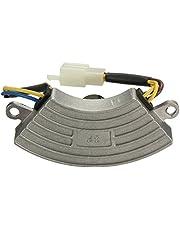 Regulador de voltaje - SODIAL(R) Regulador de voltaje gris 2 KW-3KW generador de gasolina automatico AVR carcasa de aluminio