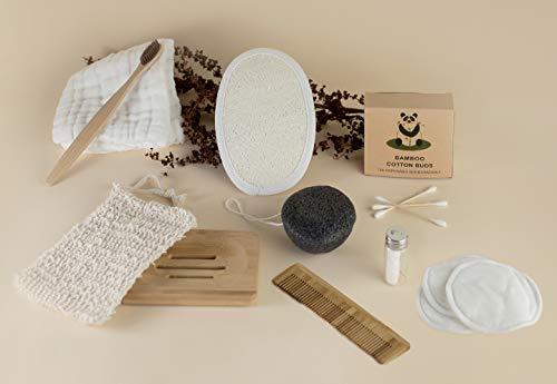 PACK DE INICIACIÓN AL ZERO-WASTE - Jabonera, esponja, cepillo, peine, bastoncillos, hilo dental y más accesorios
