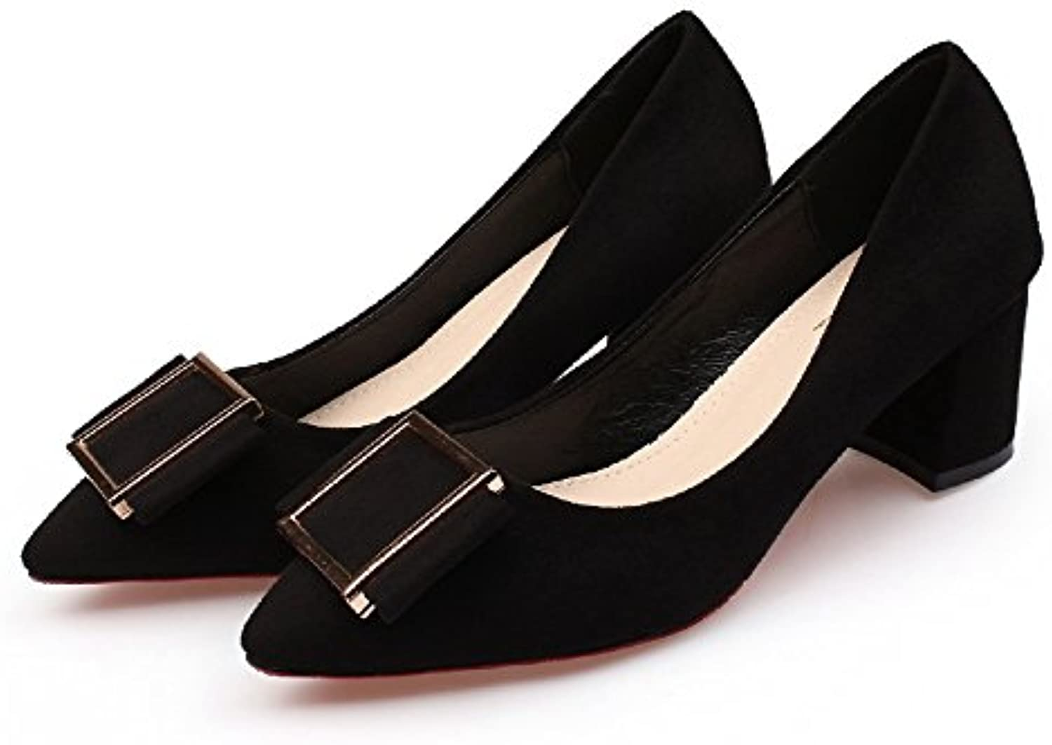 WHW Women shoes on pointed-toe high-heel shoes to tie in with the light shoe ,black,38 Single Port