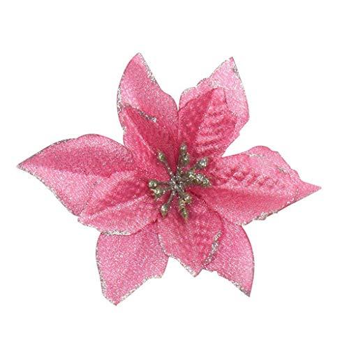 Künstliche Kunstblumen, Weihnachtsbaum, Blumenball Dekor Blume Flash Weihnachtsblume Strauß Hochzeit Zuhause Xmas Dekorative Blume Pflanze Weihnachten Dekoration Ornament Set