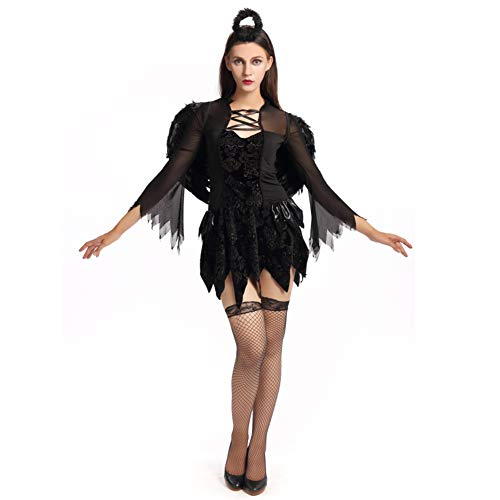 Hallowmax Traje de Disfraz de la Bruja del Diablo de Las Seoras de la Noche de Las seoras