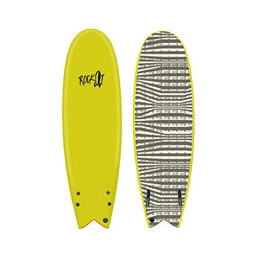 Rock-It 5'8' Albert Surfboard (Yellow)