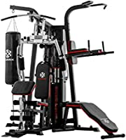 Korix KX-1800C Three-Stations Home Gym with Weights 65 KG - Multi Color