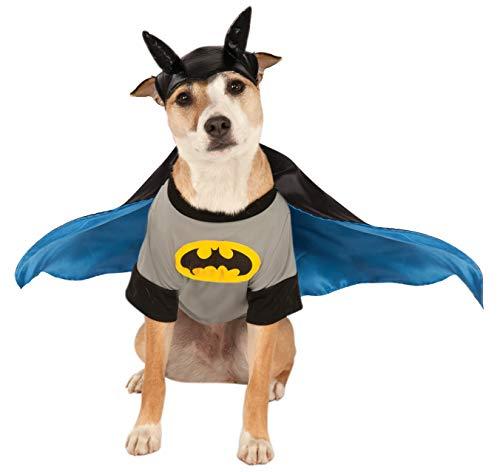 DC Comics Batman Pet Costume Shirt met cape, Medium, grijs