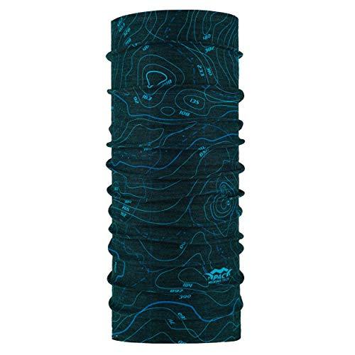 P.A.C. Merino Tech Multifunktionstuch - Outdoortuch, nahtloses Halstuch, nachhaltiges Schlauchtuch, Schal, Kopftuch, Stirnband, verschiedenste Designs, Unisex, 10 Tragevarianten