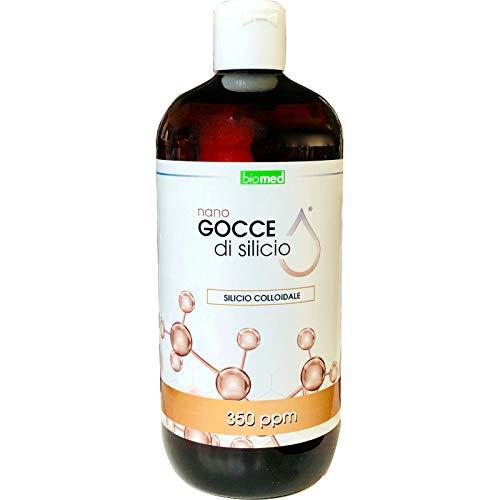 Nano Gocce di Silicio Colloidale 350 ppm Biomed confezione da 500 ml
