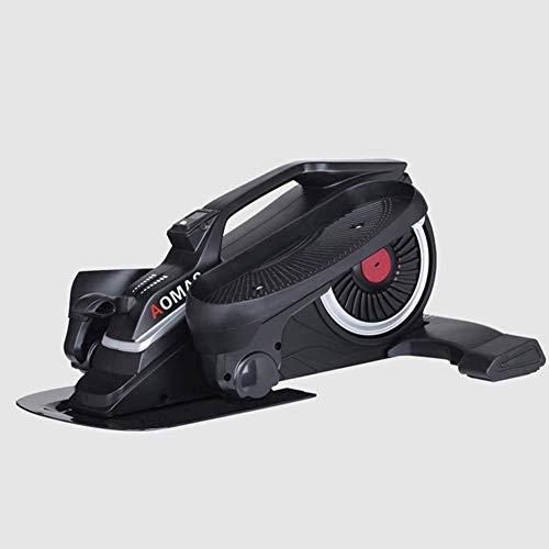 ZHANGKANG Desk Oval Mini Stepper-Oval Pedal Turnschuhe unter den Tisch, einzigartiges Design, Mute Übung Space Walk-Maschine (Color : Black)