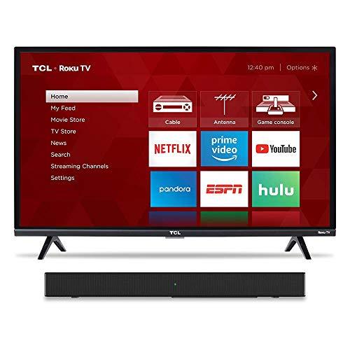 """TCL 32"""" TV & Alto 3 Sound Bar"""