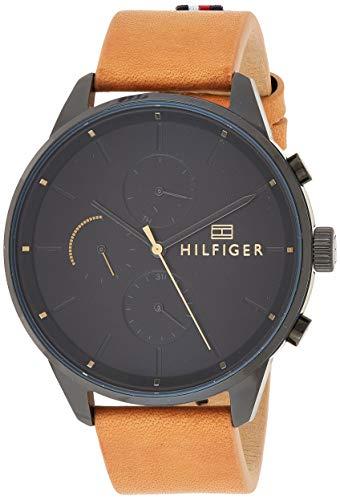Tommy Hilfiger Unisex Multi Zifferblatt Quarz Uhr mit Leder Armband 1791486