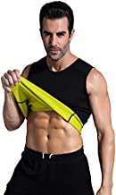 Valentina Mens Hot Thermo Shaper Vest, Slimming Tank Top, Tummy Control Shapewear, Body Fat Burner, Best Exercise Trainer, Workout Sweat Sauna Suit for Weight Loss, Black No Zip