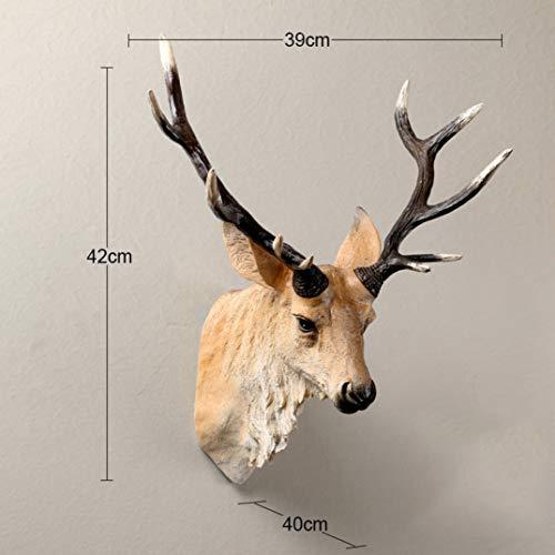muur opknoping dierlijke hars standbeeld huisdecoratie realistische herten hoofd cadeau ambachtelijke ontwerp