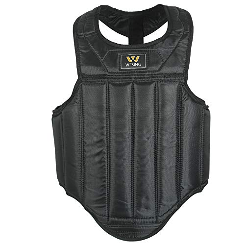 Wesing Martial Arts Muay Thai Boxing Chest Protector MMA Sanda Chest Guard