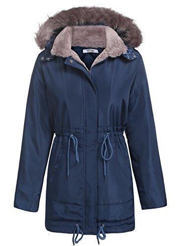 Beyove - Parka invernale da donna per la mezza stagione, con cerniera, 9 colori, S-XXL