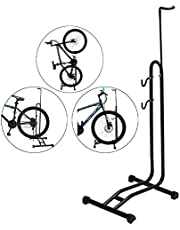 3-in-1 Removable Bicycle Parking Rack, Adjustable Height Vertical Parking Stand Repair Stand, Indoor Floor Stand Support for Garage Storage, Outdoor Nook and Workshop No Drilling