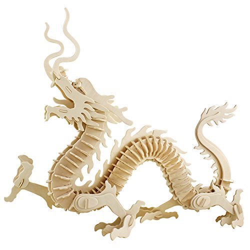 A-Parts The Dragon of East DIY 3D Cut Model Kit- Wooden Puzzle Toy for Kids Home Decoration