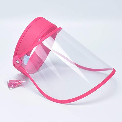 AIORNIYEinstellbarer Sonnenhut Weiblicher Anti-Tröpfchen-Speichel Einweg-Gesichtsschutz 1-teilig