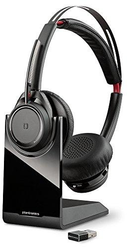 Plantronics Voyager Focus UC B825 Kopfhörer, Stereo, Headset, Kopfhörer (Anrufzentrum/Büro, Binaural, Bandeau, Schwarz, kabellos, 45 m)