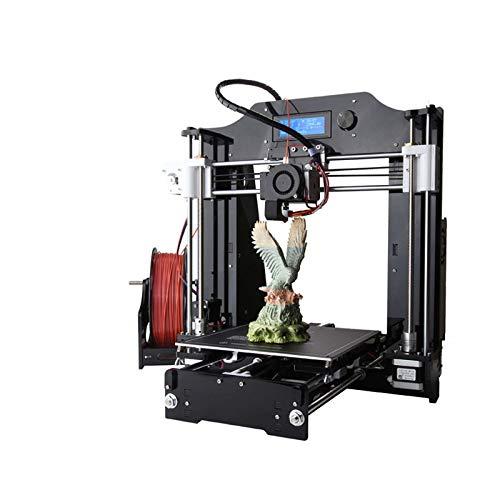 ZZWBOX 3D-Drucker mit beheizter Bauplatte (200 x 200 x 180 mm), automatischer Kalibrierung, vollständig montiert für ABS- und PLA-freie MicroSD-Karte,Black
