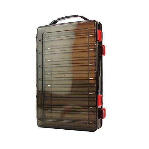 14 Grids dubbelzijdig vissen lokken doos duidelijk vissen Tackle lokken aas Jig haken opslag case container
