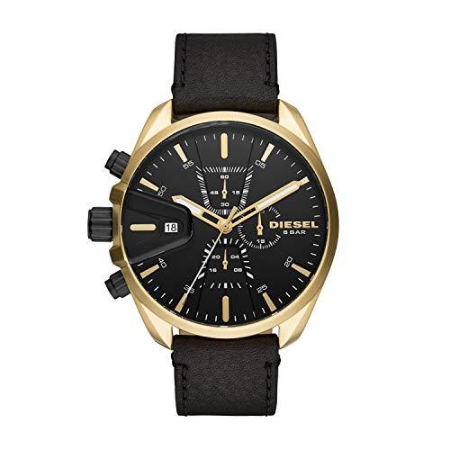Diesel Herren Chronograph Quarz Uhr mit Leder Armband DZ4516