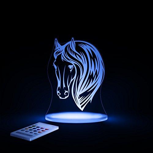 Aloka SleepyLight Nachtlicht, Pferdekopf, LED, mehrfarbig, mit Fernbedienung für Kinder