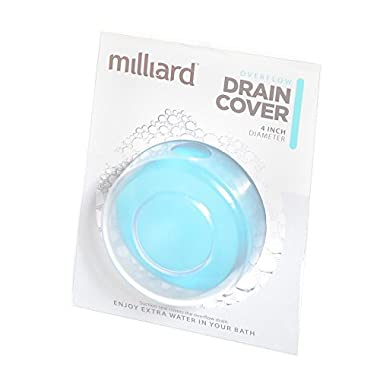 Milliard Bathtub Overflow Drain suction Cover/plug for deep water baths. (Adds 4 Inches)