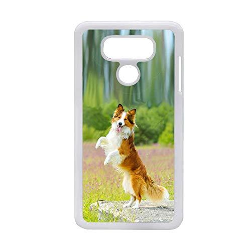 Generic Diseño Collie compatible con Lg G6 para chicos, funda para teléfono móvil PC