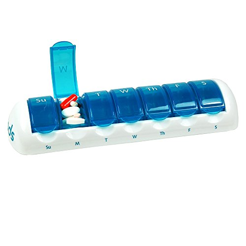 "7 Day Travel Pods (Blue) 9 1/2"" x 2 3/4"" x 1 1/2"""