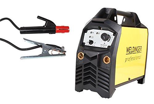 WELDINGER Elektroden-Schweißinverter EW185 'pro' 180A profitauglich 4 m Kabel (ED 100% bei 4 mm Elektroden WIG-Funktion)