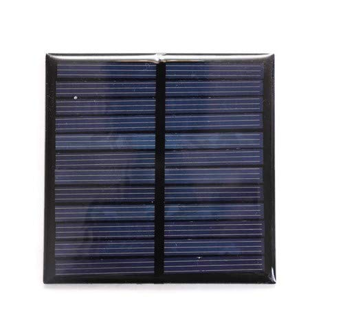 Electronicspices Solar for DIY Square Shape Mini Solar Panel 6V-100 mAh (70 x 70 x 03 mm)