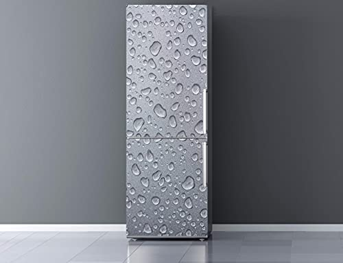 Oedim Vinilo para Frigorífico Textura Gris Refrescante 185 x 60 cm | Adhesivo Resistente y de Fácil Aplicación | Pegatina Adhesiva Decorativa de Diseño Elegante