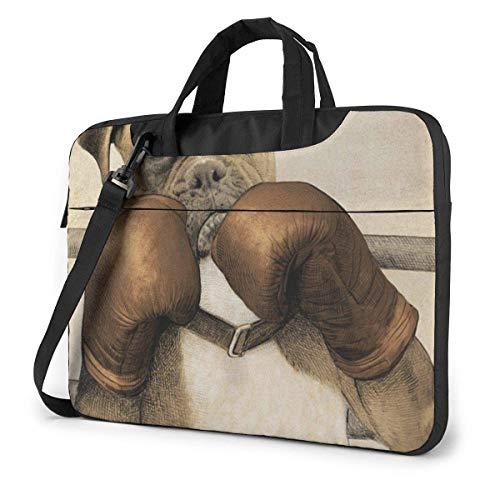 Die Hundeboxer-Laptoptasche Schulter-Umhängetasche Computer-Aktentasche für die Arbeitsschule