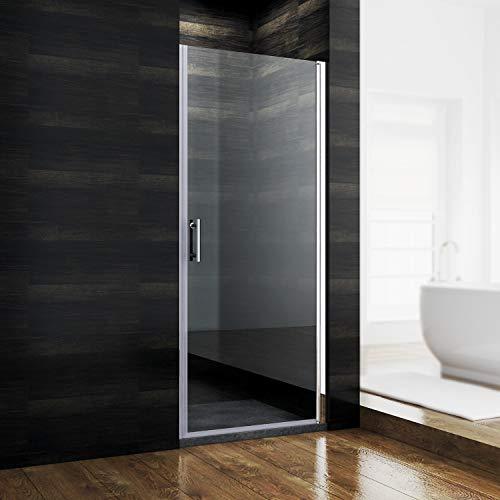 SONNI Duschkabine Duschtür Nischendrehtür 86 x 185 cm Nano Beschichtung Nischentür Schwingtür ESG Glas Dusche Glastür Dusche Pendeltür dusche Duschtrennwand