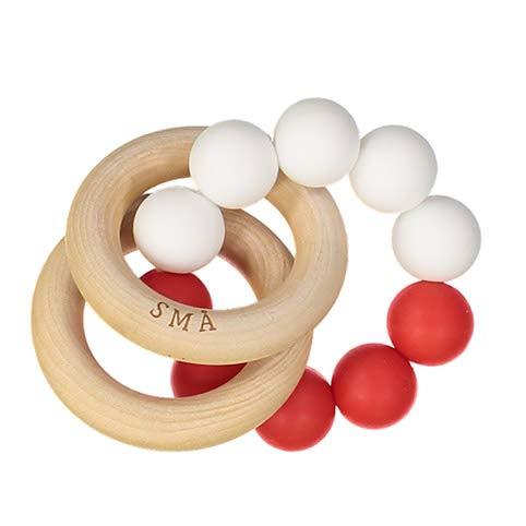 Cadeau de naissance/Hochet pour bébé (Rouge/blanc)