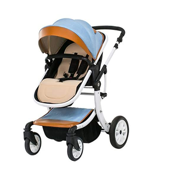 JXCC Baby Stroller Ultra Light Folding Child Shock Absorber Trolley Can Sit Half Lying 0-3 years old,15kg maximum -Safe And Stylish B JXCC 1. {All seasons} - Three-sided mesh design, the awning can be adjusted at multiple angles to easily cope with the sun 2. {55CM high landscape} - Baby can stay away from hot air surface, car exhaust, for baby's health 3. {3D Stereo Vibration} - X-frame design, evenly dispersing the upper weight, front wheel built-in suspension, rear wheel frame suspension 1