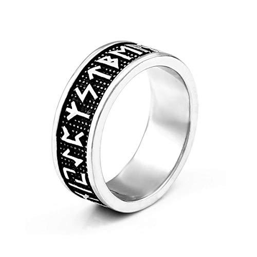 Anillo de acero inoxidable genuino para hombres Anillos de joyería con texto nórdico vikingos de moda (12)