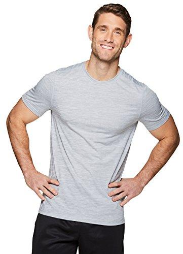 RBX Active Herren-T-Shirt mit Rundhalsausschnitt, kurzärmelig - Grau - Klein