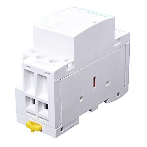 Contacto AC - SODIAL(R) 220-240V AC bobina de 35 mm DIN soporte de carril 2 polos 40A Contactor domestica