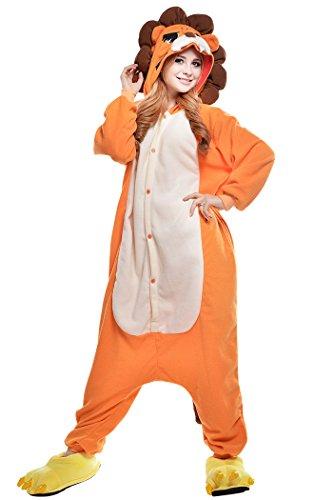 dressfan Unisex Adulto Animal Pijamas León Cosplay Traje Animal Disfraz León Pijamas Niño Adulto