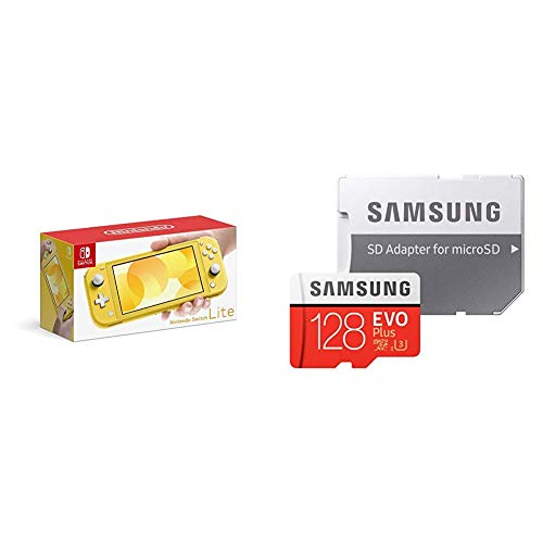 Nintendo Switch Lite イエロー + Samsung microSDカード128GB  セット