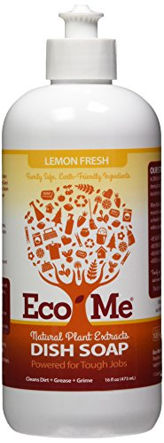 EcoMe Dish Soap Liquid, Lemon Fresh, 16 oz (Pack of 6)