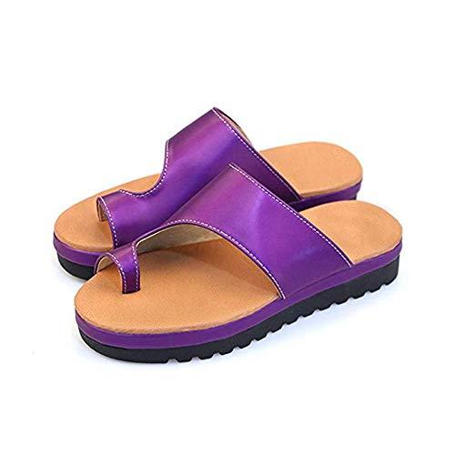 Modieuze sandalen voor dames, comfortabel plateau van pu-leer, met wighak