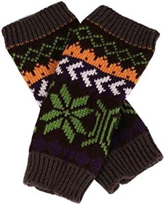 Fashion Knitted Arm Fingerless Winter Gloves Unisex Soft Warm Mitten Hand Gloves guantes eldiven handschoenen 40FE18 - (Color: C, Gloves Size: One Size)