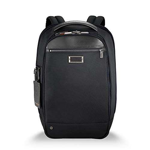 Briggs & Riley Work Medium Slim Backpack Aktentasche, 43 cm, 15.9 liters, Schwarz (Black)