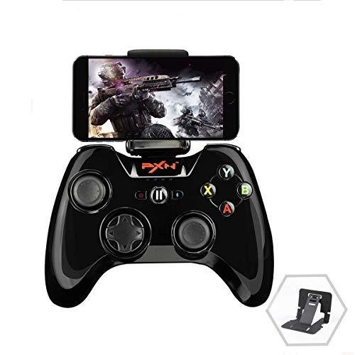 PXN 6603 MFi ゲームコントローラー ワイヤレス ゲームパッド IOS対応 スマホホルダー付き ブラック