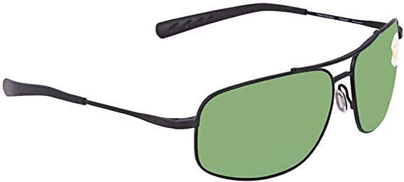 62 mm Satin Black//Green Mirror-580P Costa Del Mar Mens Shipmaster Rectangular Sunglasses
