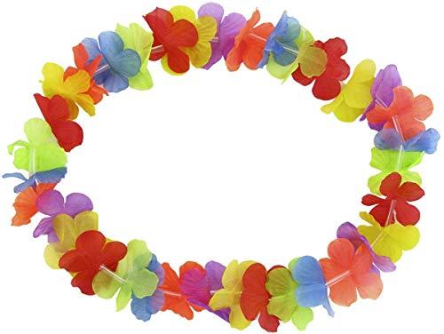 Guirca Pack de 30 collares hawaianos como accesorio para carnaval y fiestas de máscaras