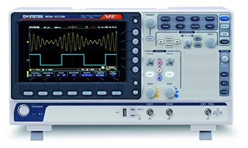 """GW Instek gds-1072b 7""""pantalla LCD a color de almacenamiento digital osciloscopio con puerto LAN/USB, 70MHz de ancho de banda, 2canales, 10m de profundidad de memoria"""