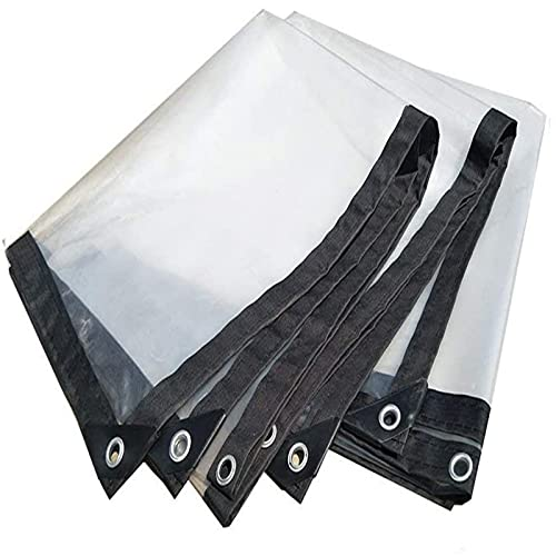 Telo Impermeabile, Telone Telo Copertura Impermeabile Trasparente in Plastica,Teli Impermeabili per Esterno 0,12 mm, per Balcone, Camper, Gazebo E Giardino(Size:1 * 7m(3.9 * 22.9ft))